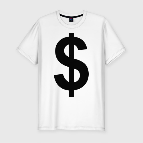 Мужская футболка премиум  Фото 01, знак доллара $