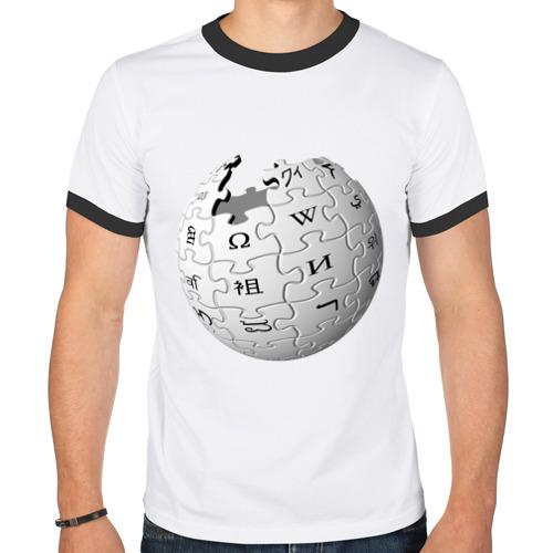 Мужская футболка рингер Wikipedia от Всемайки