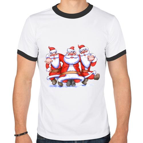 Мужская футболка рингер Деды Морозы от Всемайки