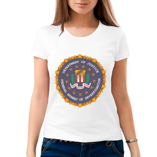 Женская футболка хлопок  Фото 03, FBI (2)