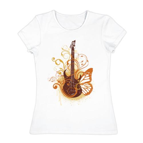 Женская футболка хлопок  Фото 01, Guitar