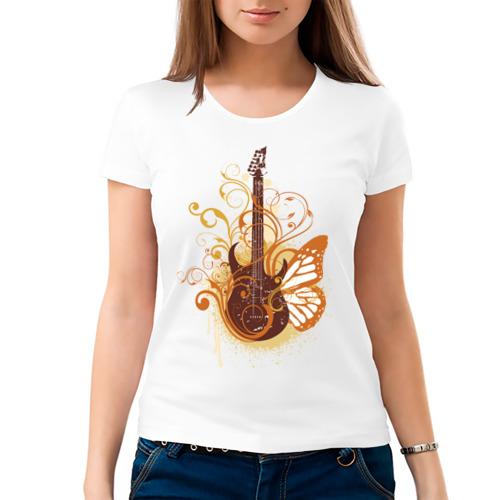 Женская футболка хлопок  Фото 03, Guitar