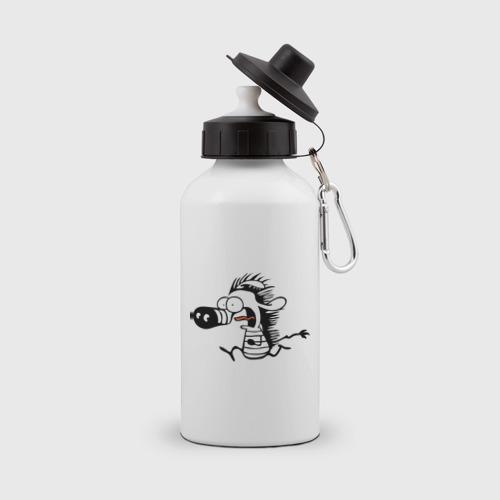 Бутылка спортивная Зебра