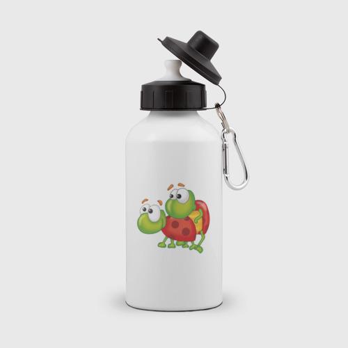 Бутылка спортивная Влюбленные жуки