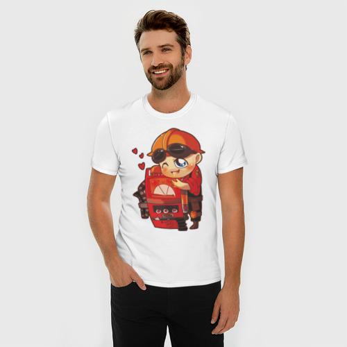 Мужская футболка премиум  Фото 03, Enginer lover - TF2