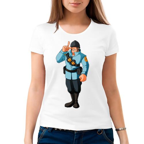 Женская футболка хлопок  Фото 03, Soldier - TF2 (1)