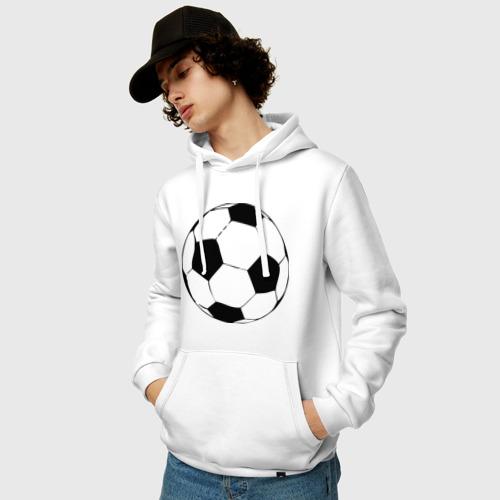 Мужская толстовка хлопок  Фото 03, Футбольный мяч