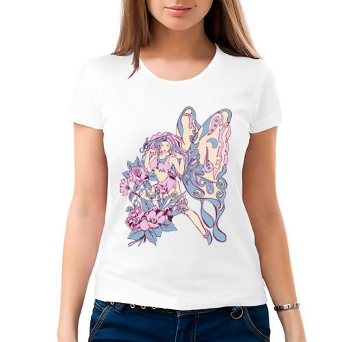 Женская футболка хлопок  Фото 03, Бабочка (6)
