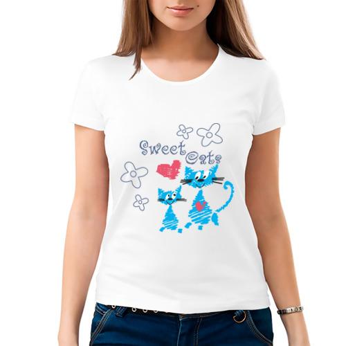 Женская футболка хлопок  Фото 03, Sweet Cats
