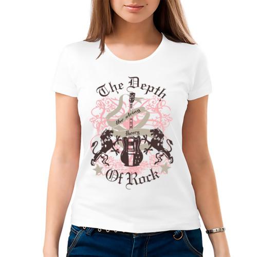 Женская футболка хлопок  Фото 03, The Depth Of Rock
