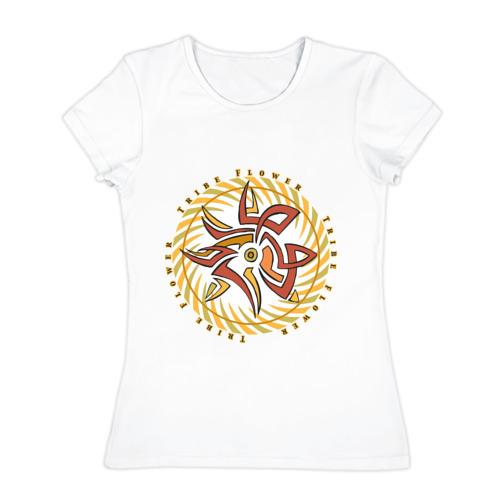 Женская футболка хлопок  Фото 01, Trible flower