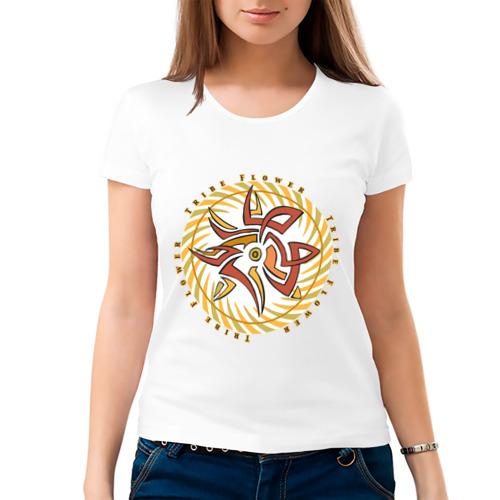 Женская футболка хлопок  Фото 03, Trible flower