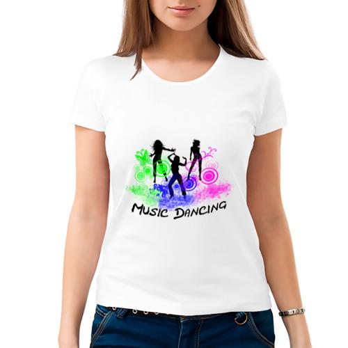 Женская футболка хлопок  Фото 03, Music dancing girl