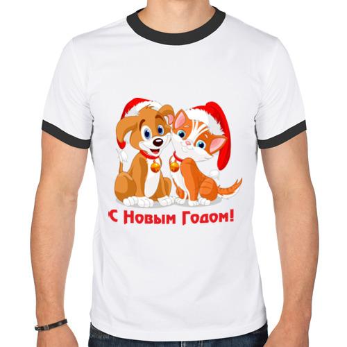 Мужская футболка рингер  Фото 01, С Новым Годом(6)