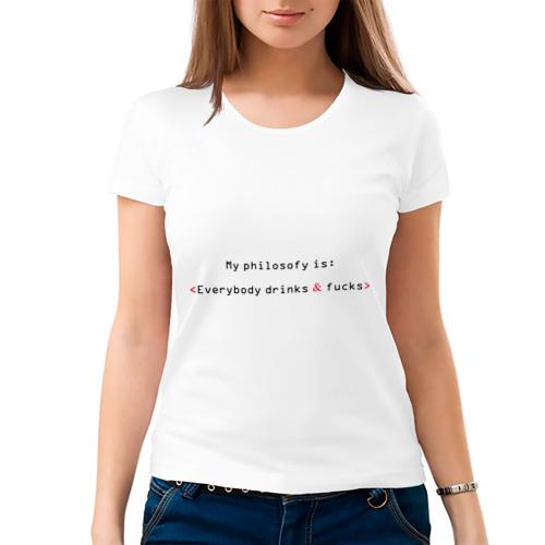 Женская футболка хлопок  Фото 03, My Philosophy