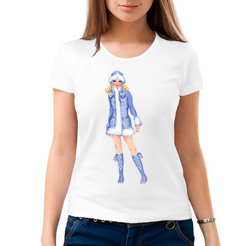 Женская футболка хлопок  Фото 03, Снегурка (3)