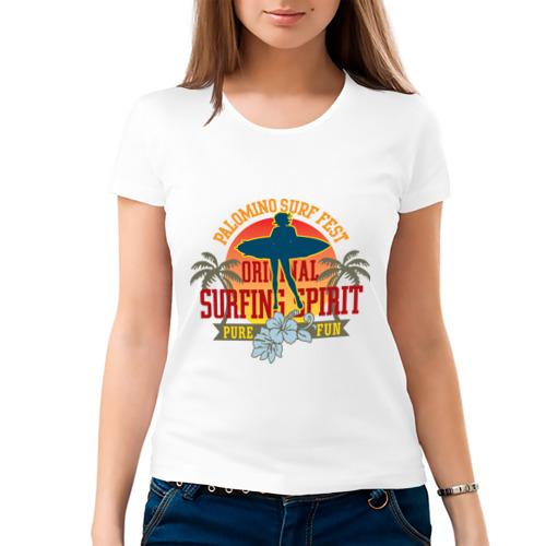 Женская футболка хлопок  Фото 03, Surf (3)