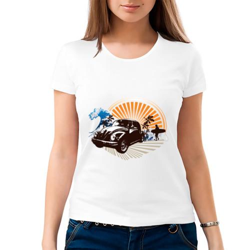 Женская футболка хлопок  Фото 03, Surf (4)