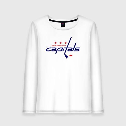 Женский лонгслив хлопок Washington Capitals