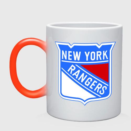 Кружка хамелеон New York Rangers