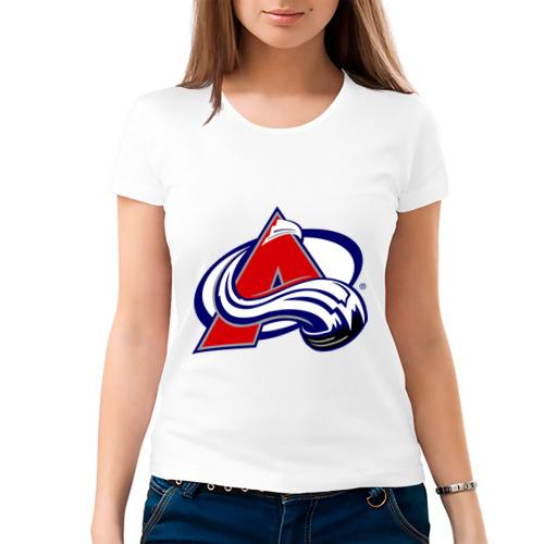 Женская футболка хлопок  Фото 03, Colorado Avelanche