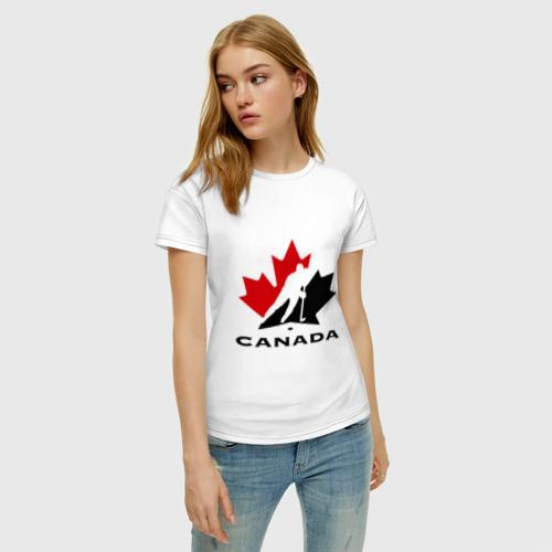 Женская футболка хлопок Canada Фото 01