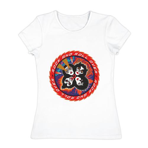 Женская футболка хлопок  Фото 01, Kiss(2)