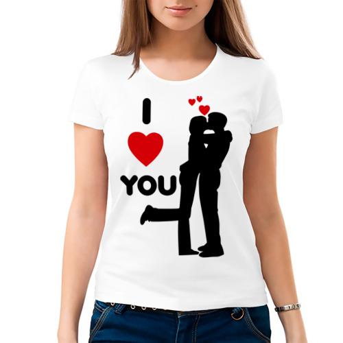 Женская футболка хлопок  Фото 03, Love you (2)