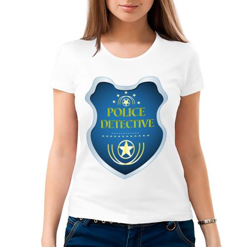 Женская футболка хлопок  Фото 03, Police detective