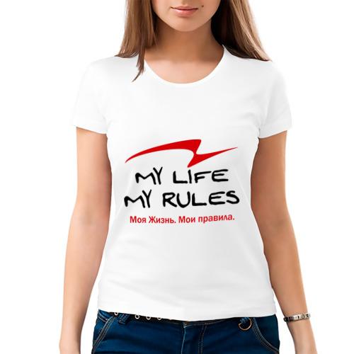 Женская футболка хлопок  Фото 03, Моя Жизнь. Мои правила.