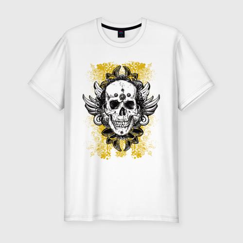 Мужская футболка премиум  Фото 01, Grunge skulls