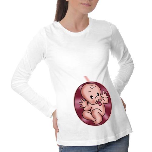 Лонгслив для беременных хлопок Дразнилка