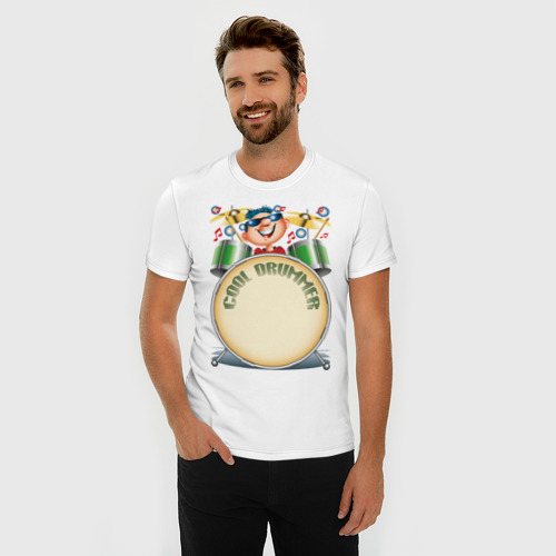Мужская футболка премиум  Фото 03, Cool Drummer