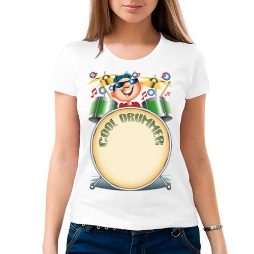 Женская футболка хлопок  Фото 03, Cool Drummer