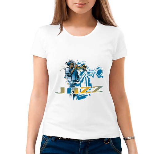 Женская футболка хлопок  Фото 03, Jazz (2)