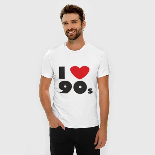 Мужская футболка премиум  Фото 03, Люблю 90-ые