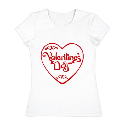 Женская футболка хлопок  Фото 01, С Днём Святого Валентина (3)