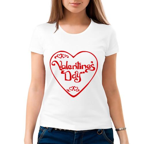 Женская футболка хлопок  Фото 03, С Днём Святого Валентина (3)