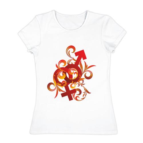 Женская футболка хлопок  Фото 01, Вместе навсегда