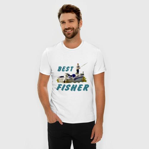Мужская футболка премиум  Фото 03, Best fisher