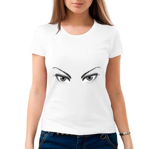 Женская футболка хлопок  Фото 03, Глаза