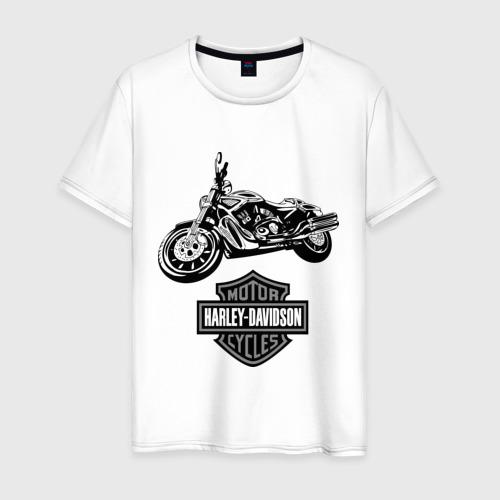 Мужская футболка хлопок Harley-davidson (3)