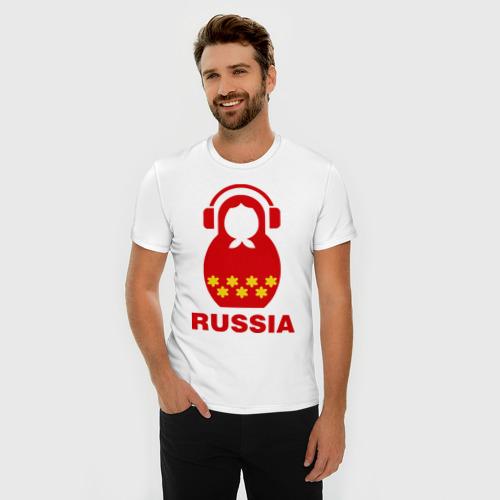 Мужская футболка премиум Russia dj Фото 01