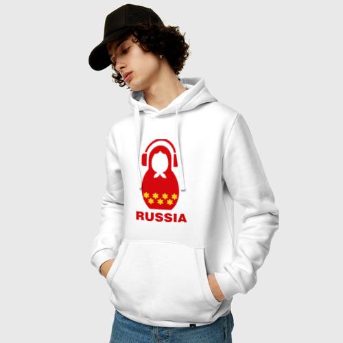 Мужская толстовка хлопок  Фото 03, Russia dj