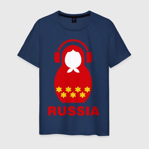 Мужская футболка хлопок Russia dj Фото 01