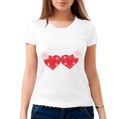 Женская футболка хлопок  Фото 03, Лиф из сердец