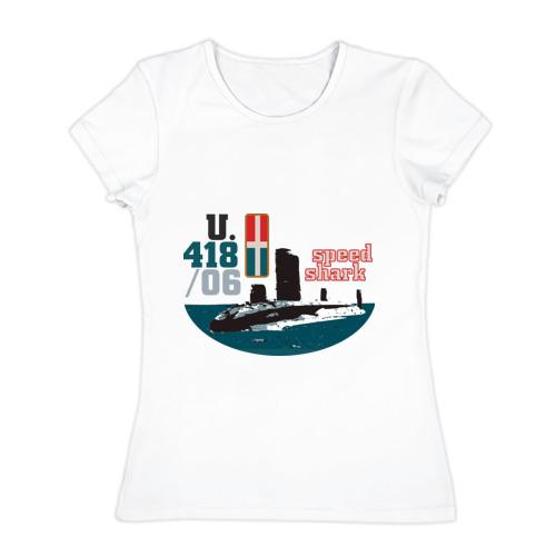 Женская футболка хлопок  Фото 01, Speed shark