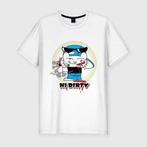 Мужская футболка премиум  Фото 01, Hi dirty (3)