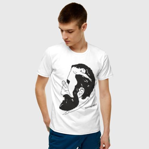 Мужская футболка хлопок Портрет Зигмунда Фрейда Фото 01