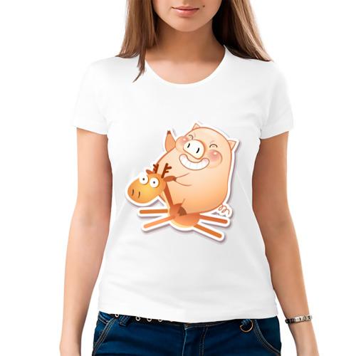 Женская футболка хлопок  Фото 03, Pig (1)